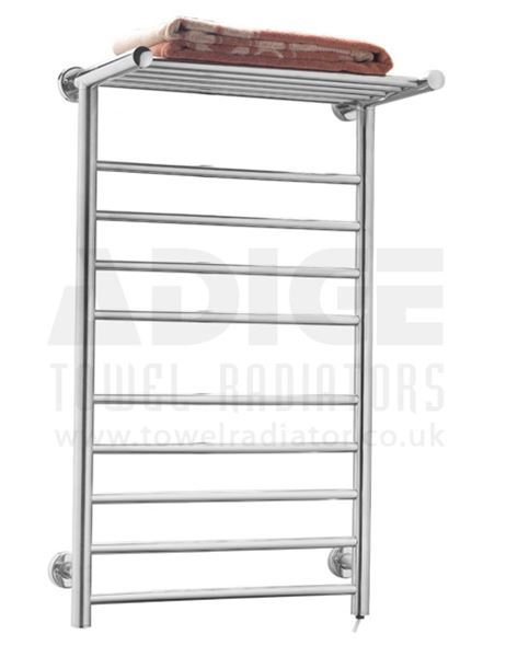 Picture of 530mm Wide 900mm High FLAT Stainless Steel Electric Towel Rail