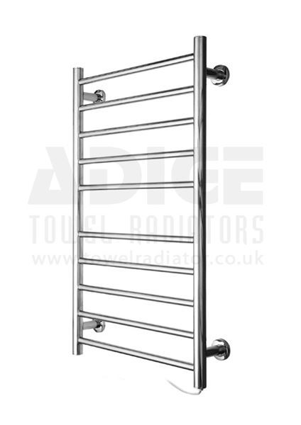 Picture of 530mm Wide 870mm High FLAT Stainless Steel Electric Towel Rail