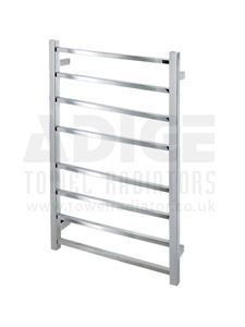 Picture of 530mm Wide 700mm High Square Tube Electric Towel Rail