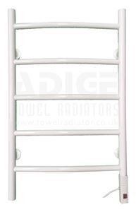 Picture of 500mm Wide 800mm High Electric Towel Rail in White