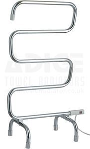 Picture of Free Standing Electric Towel Rail in Chrome