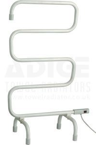 Picture of Free Standing Electric Towel Rail in White