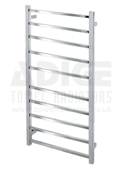 Picture of 530mm Wide 870mm High Square Tube Electric Towel Rail