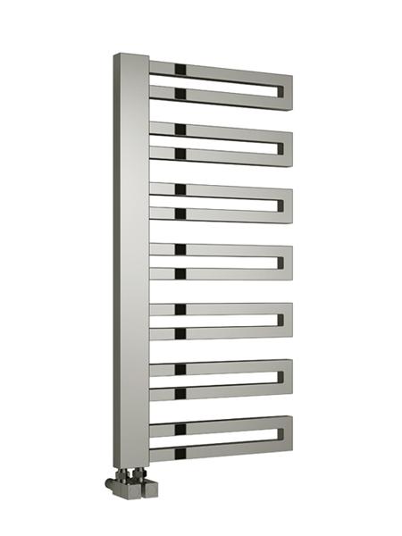 ginosa 500mm wide 1000mm high chrome designer towel. Black Bedroom Furniture Sets. Home Design Ideas