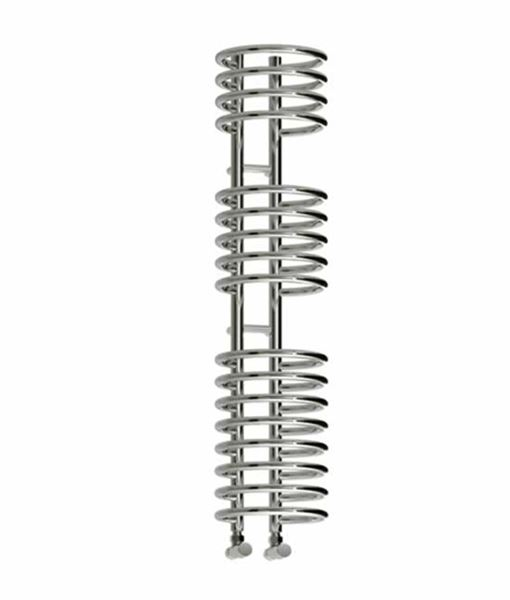 Picture of CLARO 300mm Wide 900mm High Chrome Coil Designer Towel Radiator