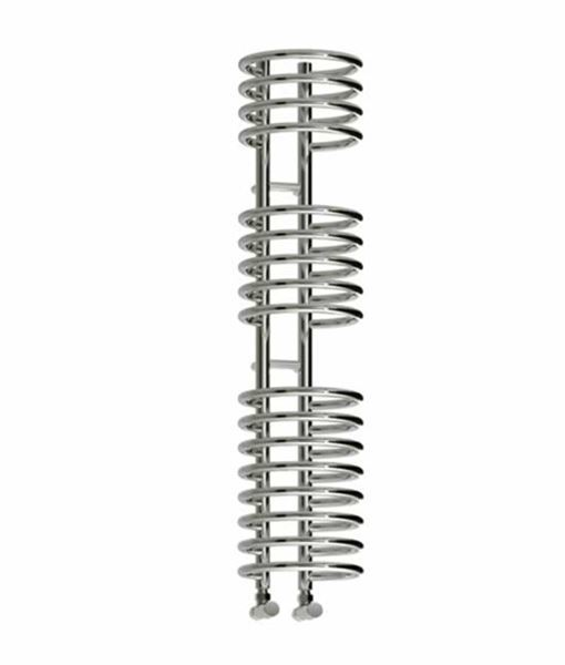 Picture of CLARO 300mm Wide 1600mm High Chrome Coil Designer Towel Radiator