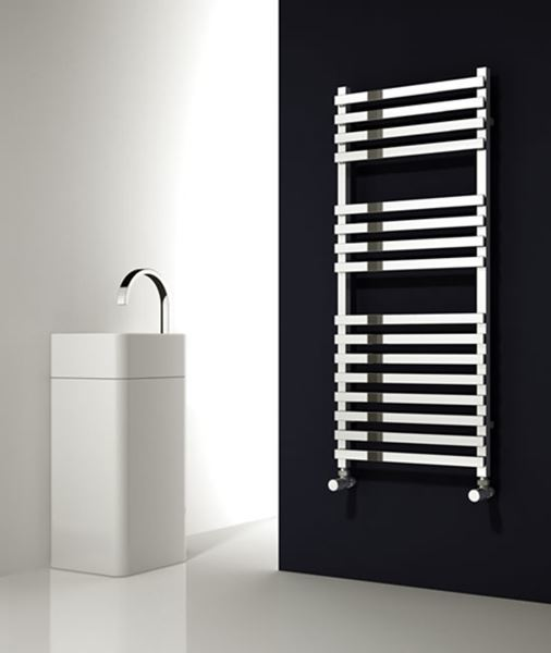 Picture of CARINA 500mm Wide 1200mm High Chrome Designer Towel Radiator