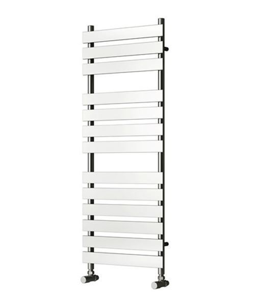 Picture of TRENTO 500mm Wide 1300mm High Chrome Designer Towel Radiator