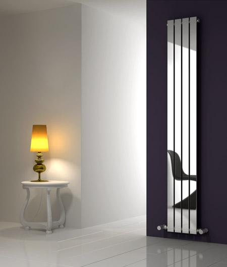 OSIMO 290mm Wide 1800mm High Designer Bathroom Radiator   Vertical Chrome