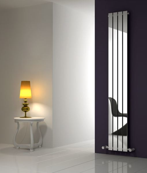 Picture of OSIMO 430mm Wide 1800mm High Designer Bathroom Radiator - Vertical Chrome