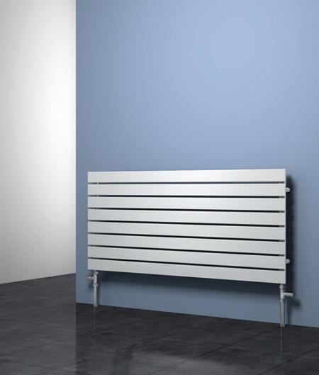. RIONE 1200mm Wide 550mm High Designer Bathroom Radiator   White Single