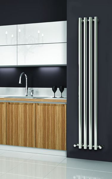 Picture of ORIA 270mm Wide 1800mm High CHROME Designer Bathroom Radiator