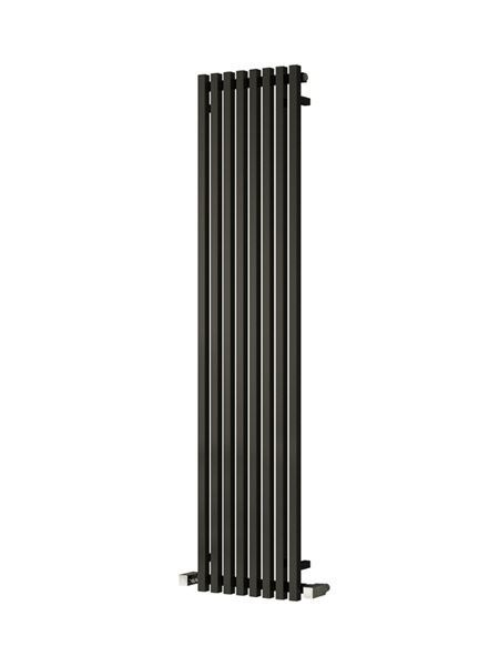 Picture of CASCIA 240mm Wide 1800mm High Designer Bathroom Radiator - Vertical Black