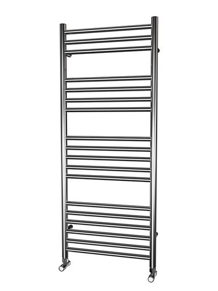 Picture of 500mm Wide 1200mm High FLAT Stainless Steel Towel Radiator