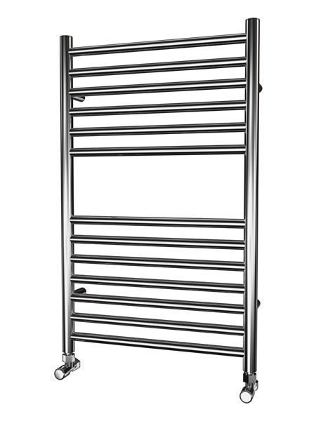 Picture of 500mm Wide 800mm High FLAT Stainless Steel Towel Radiator