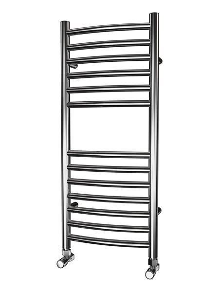 Picture of 350mm Wide 800mm High CURVED Stainless Steel Towel Radiator