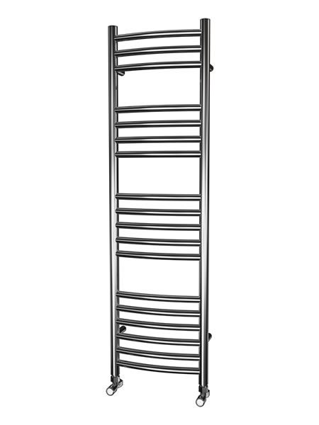 Picture of 350mm Wide 1200mm High CURVED Stainless Steel Towel Radiator