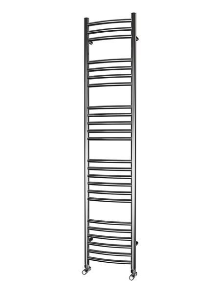 Picture of 350mm Wide 1600mm High CURVED Stainless Steel Towel Radiator