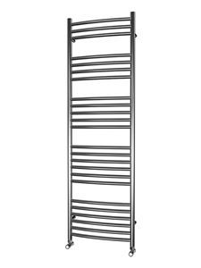 Picture of 500mm Wide 1600mm High  CURVED Stainless Steel Towel Radiator