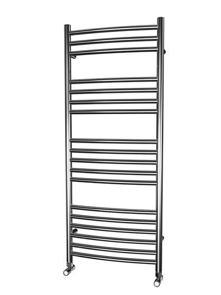 Picture of 500mm Wide 1200mm High CURVED Stainless Steel Towel Radiator