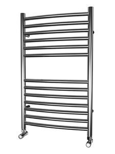 Picture of 500mm Wide 800mm High CURVED Stainless Steel Towel Radiator