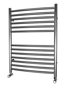 Picture of 600mm Wide 800mm High CURVED Stainless Steel Towel Radiator