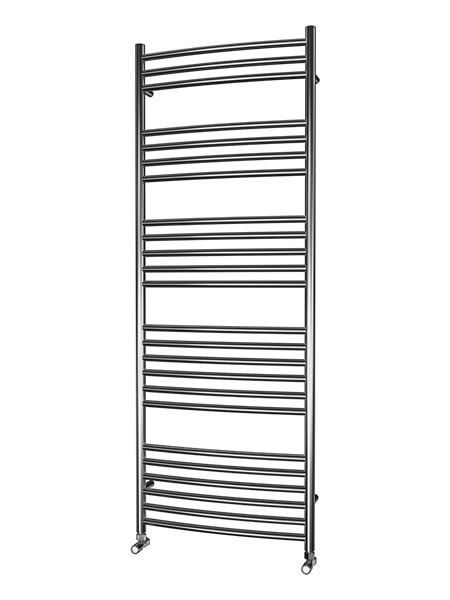 Picture of 600mm Wide 1600mm High CURVED Stainless Steel Towel Radiator