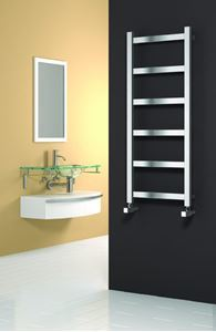 Picture of MINA 480mm Wide 1170mm High Stainless Steel Towel Radiator