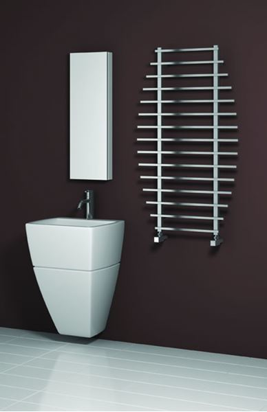 Picture of ENNA-S 700mm Wide 1200mm High Stainless Steel Towel Radiator