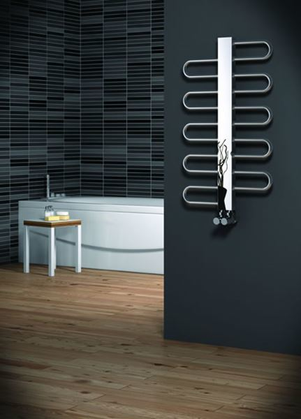 Picture of DYNAMIC 500mm Wide 1306mm High Stainless Steel Towel Radiator