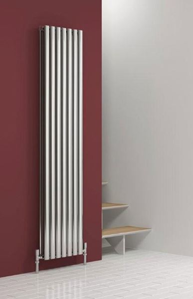 Picture of NEROX 413mm Wide 1800mm High Vertical Radiator - Polished Double