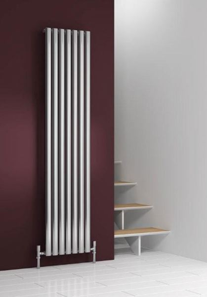 Picture of NEROX 413mm Wide 1800mm High Vertical Radiator - Polished Single