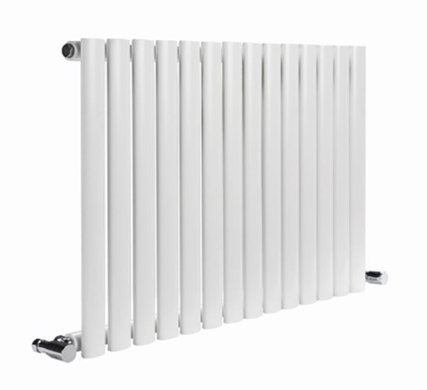 Picture of NEVA 413mm Wide 550mm High White Radiator - Single