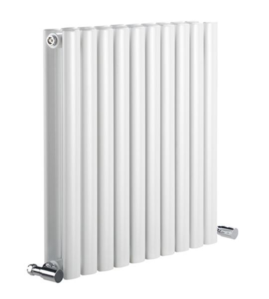 Picture of NEVA 413mm Wide 550mm High White Radiator - Double