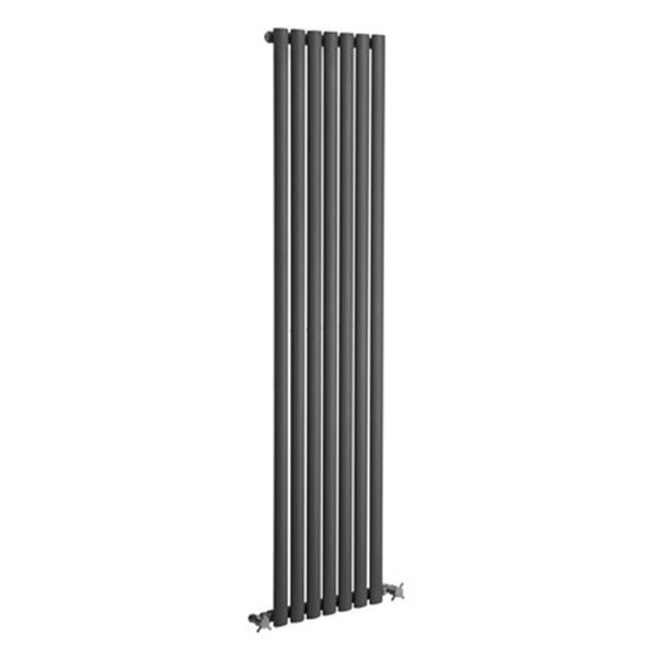 Picture of NEVA 295mm Wide 1500mm High Anthracite Radiator - Single