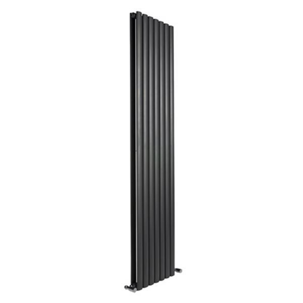 Picture of NEVA 295mm Wide 1800mm High Black Radiator - Double
