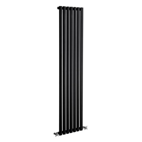 Picture of NEVA 295mm Wide 1800mm High Black Radiator - Single