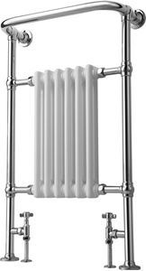 Picture of 6 Column Traditional Floor Standing Towel Rail 583mm Wide - 963mm High