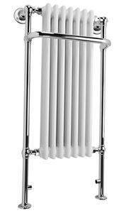 Picture of 7 Column Tall Traditional Floor Standing Towel Rail with Front Rail