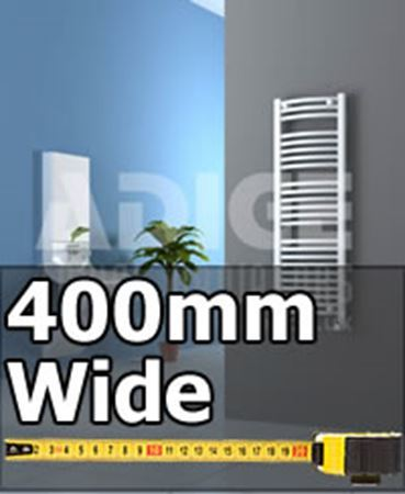 Picture for category 400mm Wide Heated Towel Rails & Bathroom Towel Radiators
