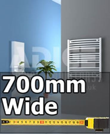 Picture for category 700mm Wide Chrome or White Bathroom Towel Radiators