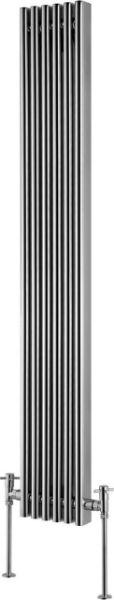 Picture of AMARA 280/1600mm Chrome Vertical Radiator 6 tubes