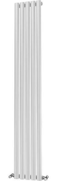 Picture of OLIVER 290mm Wide 1600mm High Elliptical Tube Radiator - White Single