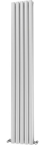Picture of OLIVER 290mm Wide 1800mm High Elliptical Tube Radiator - White Double