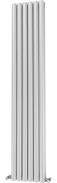 Picture of OLIVER 348mm Wide 1600mm High Elliptical Tube Radiator - White Double