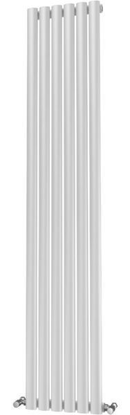 Picture of OLIVER 348mm Wide 1800mm High Elliptical Tube Radiator - White Single