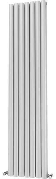 Picture of OLIVER 406mm Wide 1800mm High Elliptical Tube Radiator - White Double