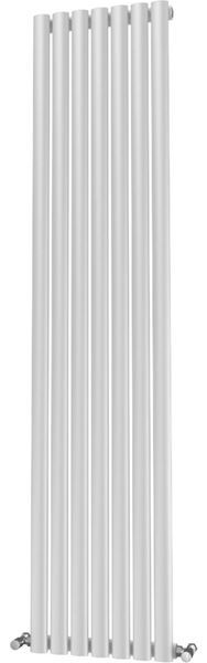 Picture of OLIVER 406mm Wide 1800mm High Elliptical Tube Radiator - White Single
