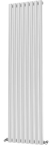 Picture of OLIVER 464mm Wide 1600mm High Elliptical Tube Radiator - White Single