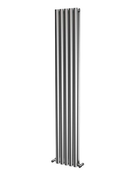 Picture of OLIVER 290mm Wide 1800mm High Elliptical Tube Stainless Steel Radiator- Brushed Double